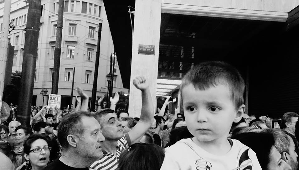 Syntagma July 3rd. Image by anthropologist Takis Geros